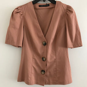 Zara Button Up Top